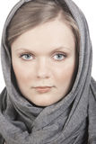Verticale de fille dans le foulard Photographie stock