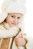 Verticale de fille dans le sourire chaud de vêtements Photos stock