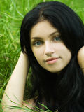 Verticale de fille de beauté Photos stock