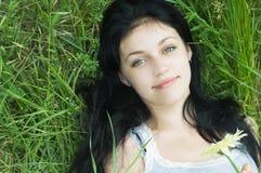 Verticale de fille de beauté Image stock