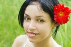 Verticale de fille de beauté Image libre de droits