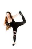 Verticale de fille de forme physique établissant avec en la gymnastique photos libres de droits