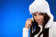 Verticale de fille de l'hiver Photos stock