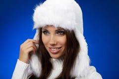 Verticale de fille de l'hiver Photographie stock libre de droits