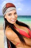 Verticale de fille de plage Photographie stock libre de droits