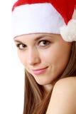 Verticale de fille de Santa image libre de droits