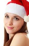 Verticale de fille de Santa photo stock