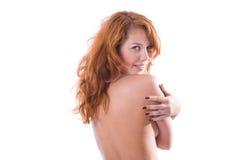 Verticale de fille eautiful de red-head photographie stock