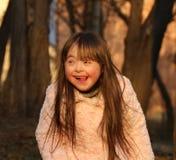 Verticale de fille heureuse Photos libres de droits