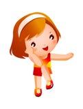 Verticale de fille heureuse Photographie stock libre de droits