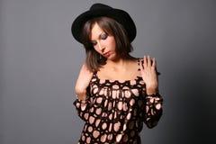 verticale de fille jolie Photo libre de droits