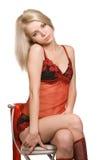 Verticale de fille sexy Photographie stock libre de droits
