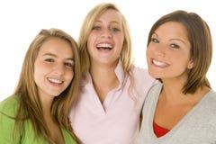 verticale de filles d'adolescent Photographie stock