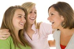 verticale de filles d'adolescent Image libre de droits