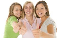 verticale de filles d'adolescent Images stock