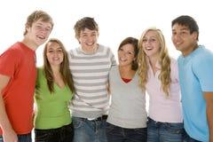 verticale de filles de garçons d'adolescent Images stock