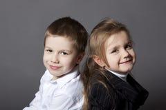 Verticale de frère et de soeur Photographie stock libre de droits