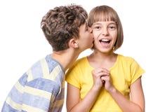 Verticale de frère et de soeur Image stock