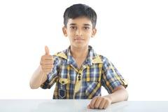 Verticale de garçon indien images libres de droits