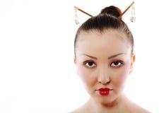 Verticale de geisha Photographie stock