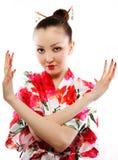 Verticale de geisha Photographie stock libre de droits