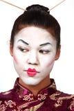 Verticale de geisha Images libres de droits