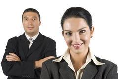 Verticale de gens d'affaires Image libre de droits