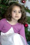 Verticale de gentille petite fille Images libres de droits