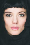 Verticale de jeune belle femme de brunette Photographie stock libre de droits
