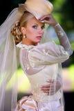 Verticale de jeune belle mariée Images stock