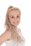 Verticale de jeune femme blonde Photo stock