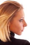 Verticale de jeune femme dans le profil photos libres de droits