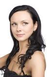 Verticale de jeune femme de cheveu foncé Image libre de droits