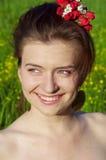 Verticale de jeune femme de sourire Photos libres de droits