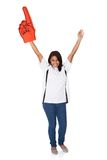 Verticale de jeune femme Excited image libre de droits