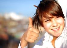 Verticale de jeune fille Photos libres de droits