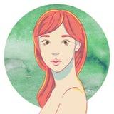 Verticale de jeune fille asiatique mignonne illustration stock