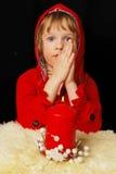 Verticale de jeune fille de prière Image libre de droits