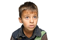 Verticale de jeune garçon Image libre de droits