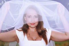 Verticale de jeune mariée Photo stock