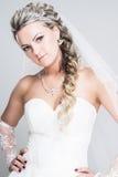 Verticale de jeune mariée Image stock