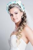 Verticale de jeune mariée Photos libres de droits