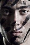 Verticale de jeune soldat image libre de droits