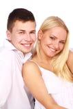 Verticale de jeunes couples photographie stock