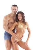 Verticale de jeunes couples de forme physique Photographie stock