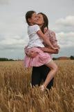 Verticale de jeunes filles Image libre de droits