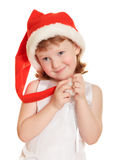 Verticale de jolie fille de Noël Photo stock