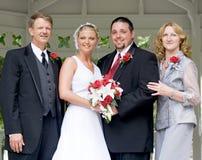 Verticale de jour du mariage Images stock