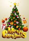 Verticale de Joyeux Noël illustration libre de droits