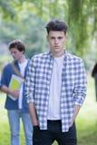 Verticale de l'étudiant mâle Image stock
